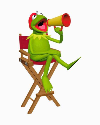 The Muppets Lights! Camera! Kermit! Ornament