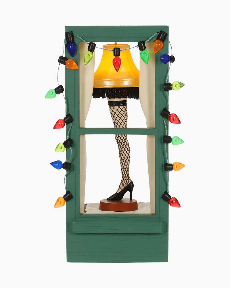 The Christmas Story Leg Lamp.A Christmas Story Mr Parker S Pride And Joy Leg Lamp Ornament With Light