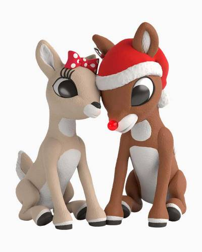 Rudolph the Red-Nosed Reindeer Rudolph and Clarice Ornament With Light