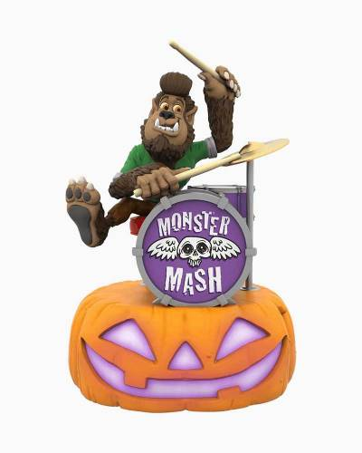 Monster Mash Collection Wolfgang on Drums Musical Halloween Ornament With Light