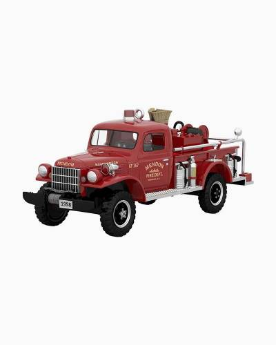 Fire Brigade 1958 Dodge Power Wagon Fire Engine Ornament With Light