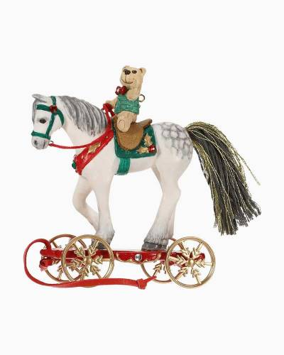 Pretty Pony for Christmas Porcelain Ornament