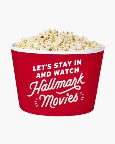 Let's Watch Hallmark Movies Popcorn Bowl