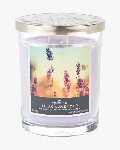 Lilac Lavender Scented Soy Blend Jar Candle