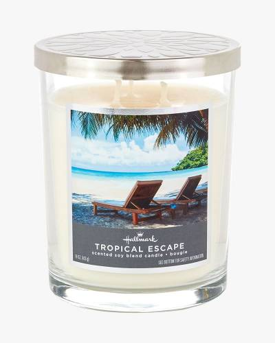 Tropical Escape Scented Soy Blend Jar Candle