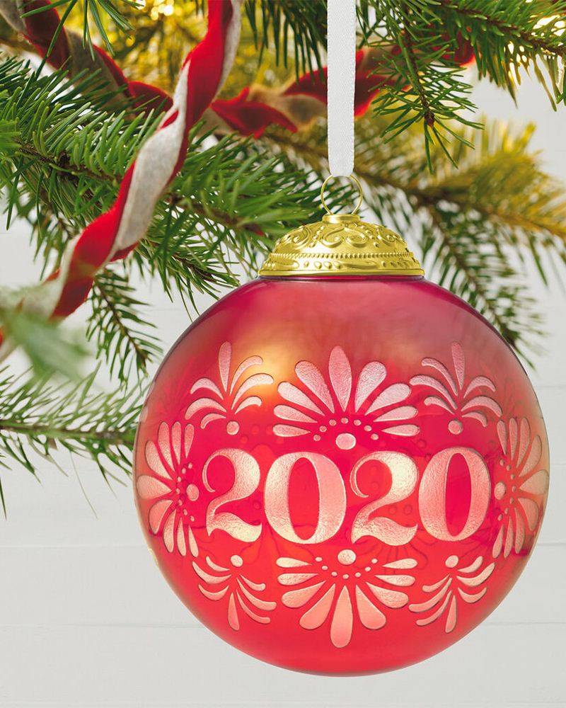 Hallmark 2020 Christmas Commemorative Glass Ball Ornament | The