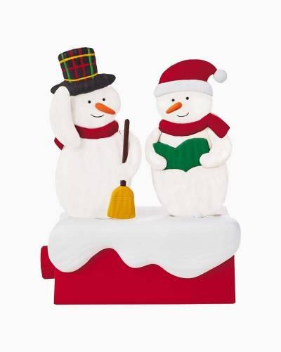 Snow Many Memories Caroling Snowmen Musical Figurine With Motion