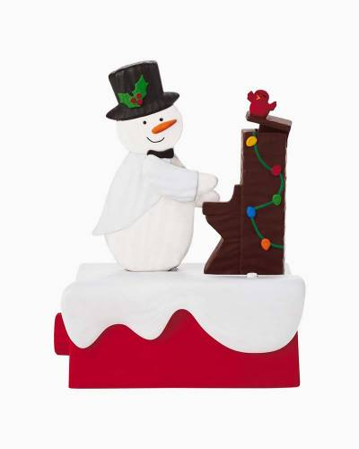 Snow Many Memories Piano Snowman Musical Figurine With Motion