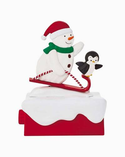 Snow Many Memories Snow What Fun Sledders Musical Figurine With Motion