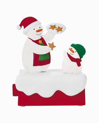 Snow Many Memories Time For Cookies Musical Figurine With Motion