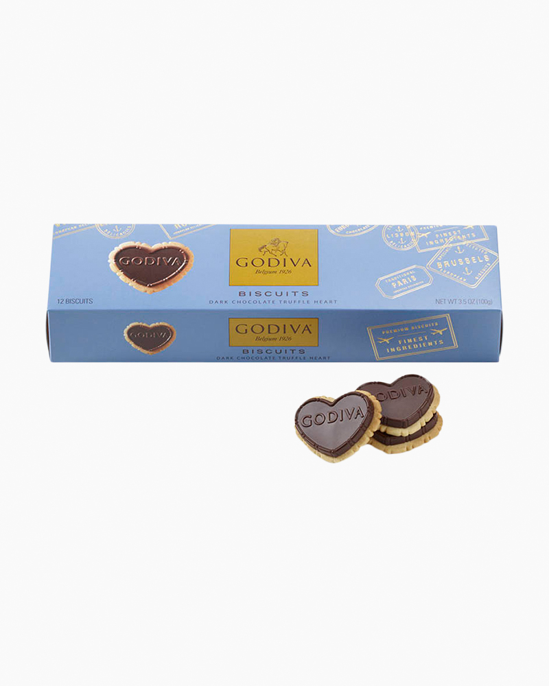 Godiva Dark Chocolate Heart-Shaped Biscuit