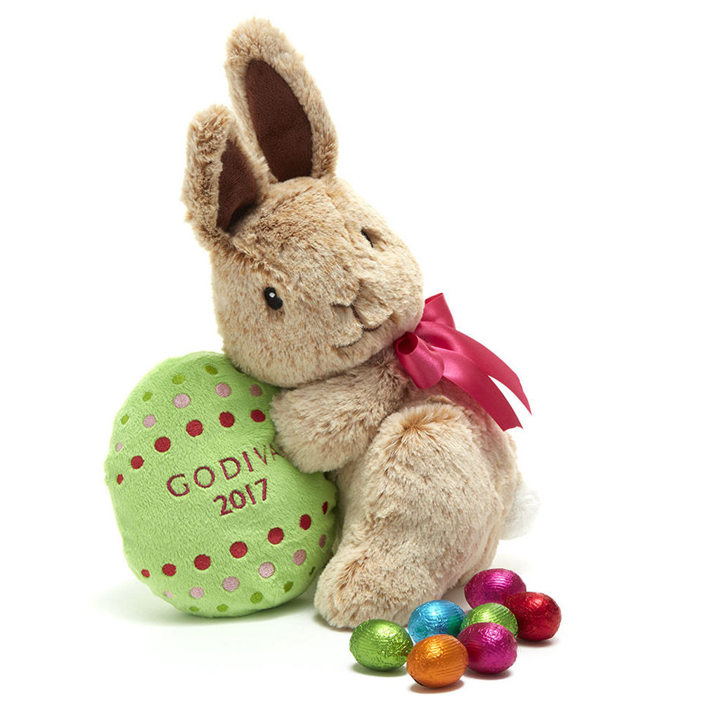 Godiva Limited Edition 2017 Plush Easter Bunny with Chocolate Eggs