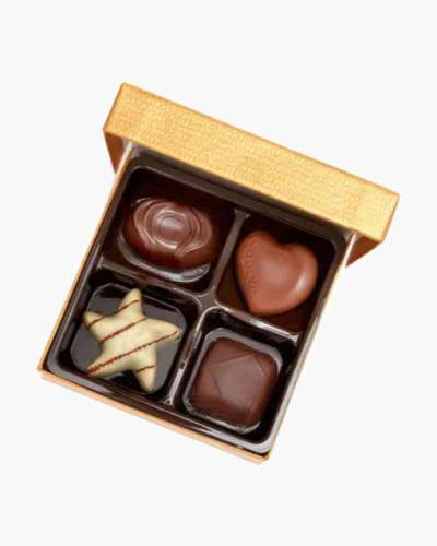 Assorted Chocolate Gold Favor Box (4 pc.)