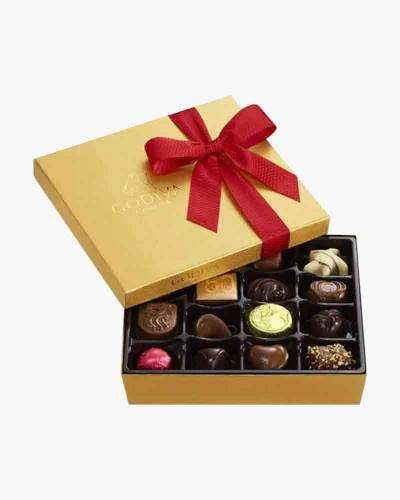 Assorted Chocolate Gold Gift Box with Holiday Ribbon (19 pc.)