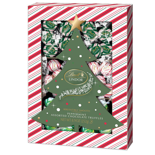 Lindt Assorted Chocolate Peppermint Truffle Box