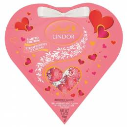 Lindt Limited Edition Strawberries and Cream Truffles Heart Box (3.4 oz)