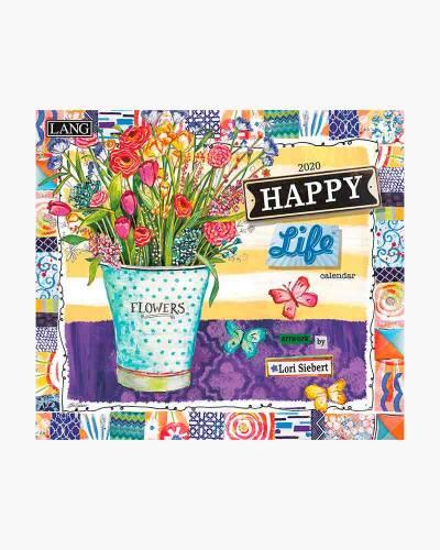 Happy Life 2020 Wall Calendar