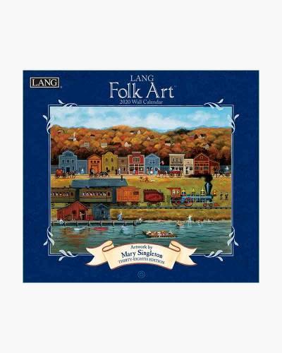 LANG Folk Art 2020 Wall Calendar