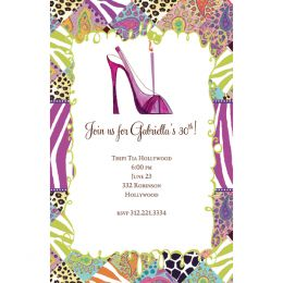 Bella Ink High Heel Birthday Open Stock Stationery