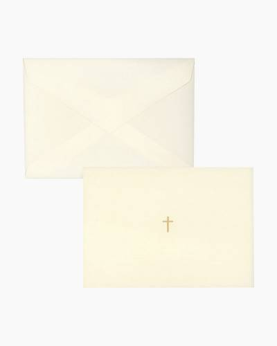 Gold Cross - Engraved Boxed Notes