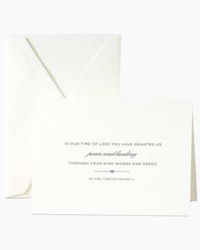 Pearl-White Sympathy Acknowledgement Note