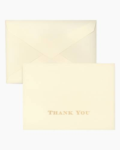 Gold Engraved Regency - Thank You Note