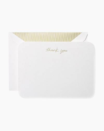 Curved Corner Thank You Card