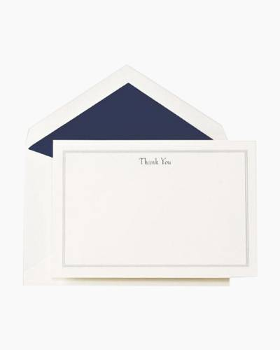 Triple Hairline Thank You Card