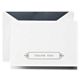 Crane & Co. Charcoal Grey Thank You Note