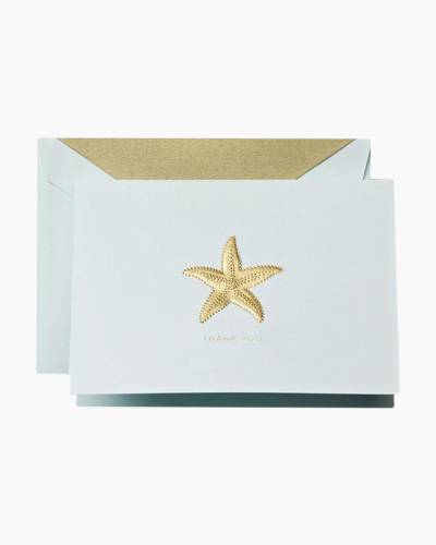 Hand-Engraved Starfish Thank You Notes