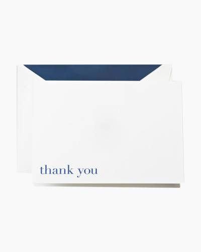 Bodoni Blue Thank You Notes