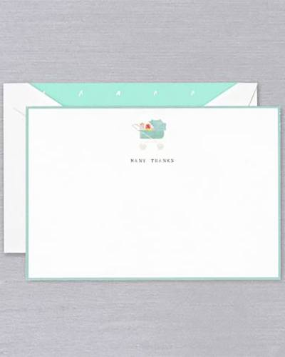 Many Thanks Baby Shower Cards Set