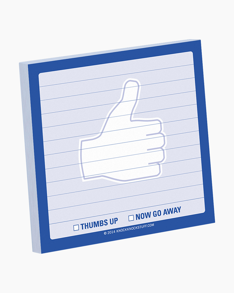 Knock Knock Thumbs Up Sticky Notes Pad