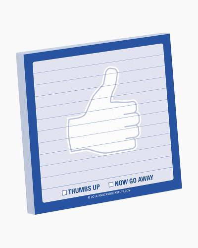 Thumbs Up Sticky Notes Pad