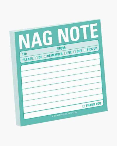 Nag Note Sticky Notes