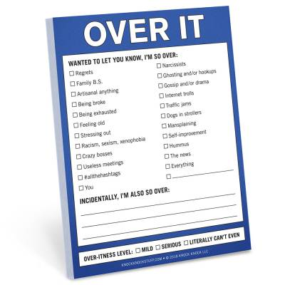 Over It Nifty Note Pad