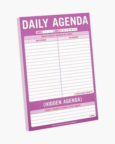 Daily Agenda/Hidden Agenda