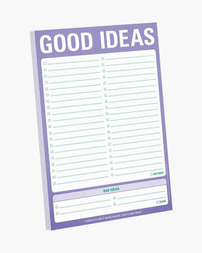 Good Ideas/Bad Ideas Pad