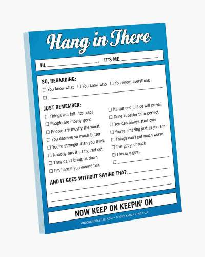 Hang In There Nifty Note Pad