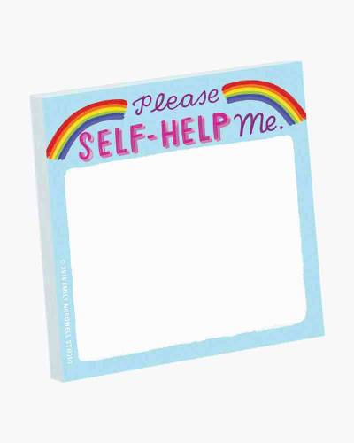 Please Self-Help Me Sticky Note Pad