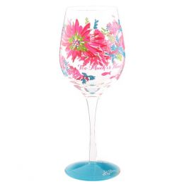 Lilly Pulitzer Trippin and Sippin Wine Glass