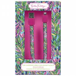 Lilly Pulitzer Hot Spot iPhone 5 Charging Cord
