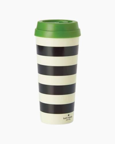 Black Stripe Thermal Mug