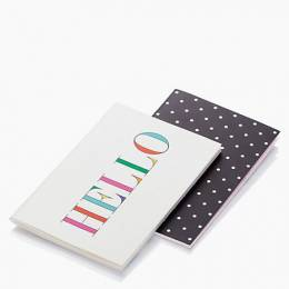 kate spade NEW YORK Hello and Deco Dots Notebook Set