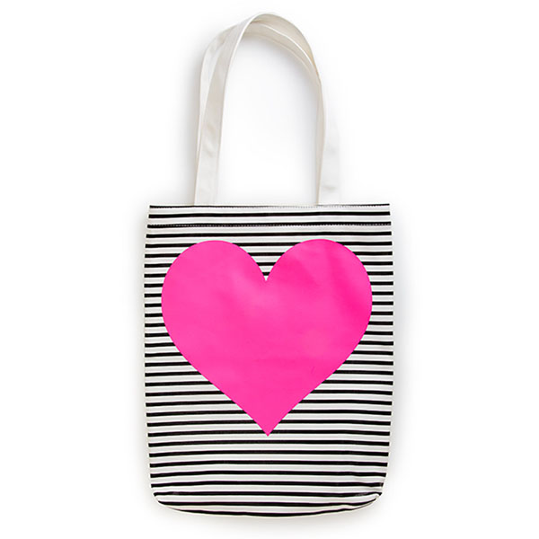 ban.do Pink Heart Canvas Tote