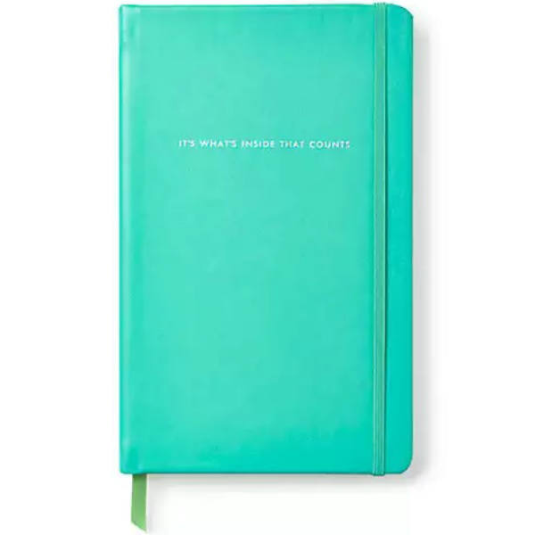 Kate Spade Take Note It's What's Inside That Counts Large Notebook