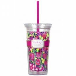 Lilly Pulitzer Wild Confetti Tumbler with Straw