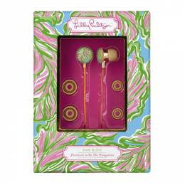 Lilly Pulitzer In the Bungalows Volume Control Ear Buds