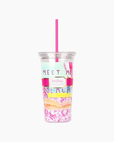 Meet Me at the Beach Tumbler with Straw