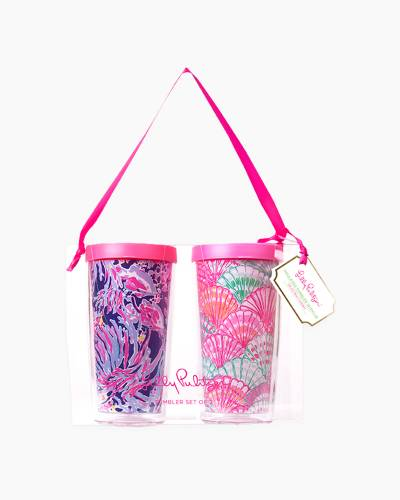 Shrimply Chic and Oh Shello Insulated Tumbler with Lid Set